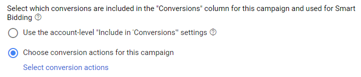 conversion action setting