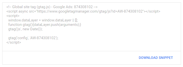 google ads conversion code