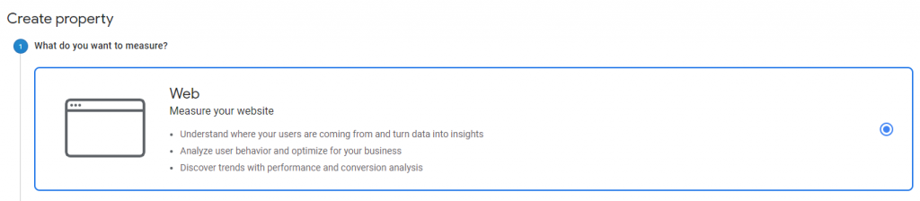 google analytics web