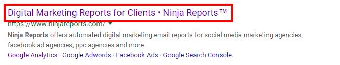 ninja reports meta title seo