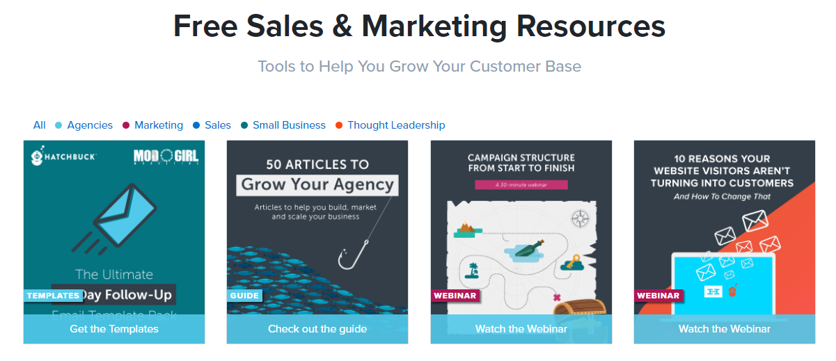 sales and marketing resouce guide seo